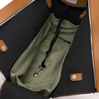 trasportino cuoio interno in nylon