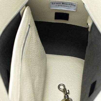 trasportino morbido bianco tasca interno